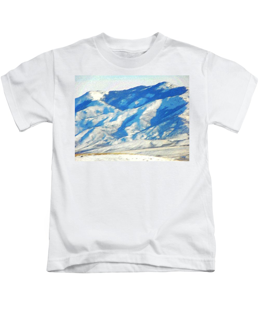 Abstract Kids T-Shirt featuring the photograph Elk Mountain Wyoming by Lenore Senior