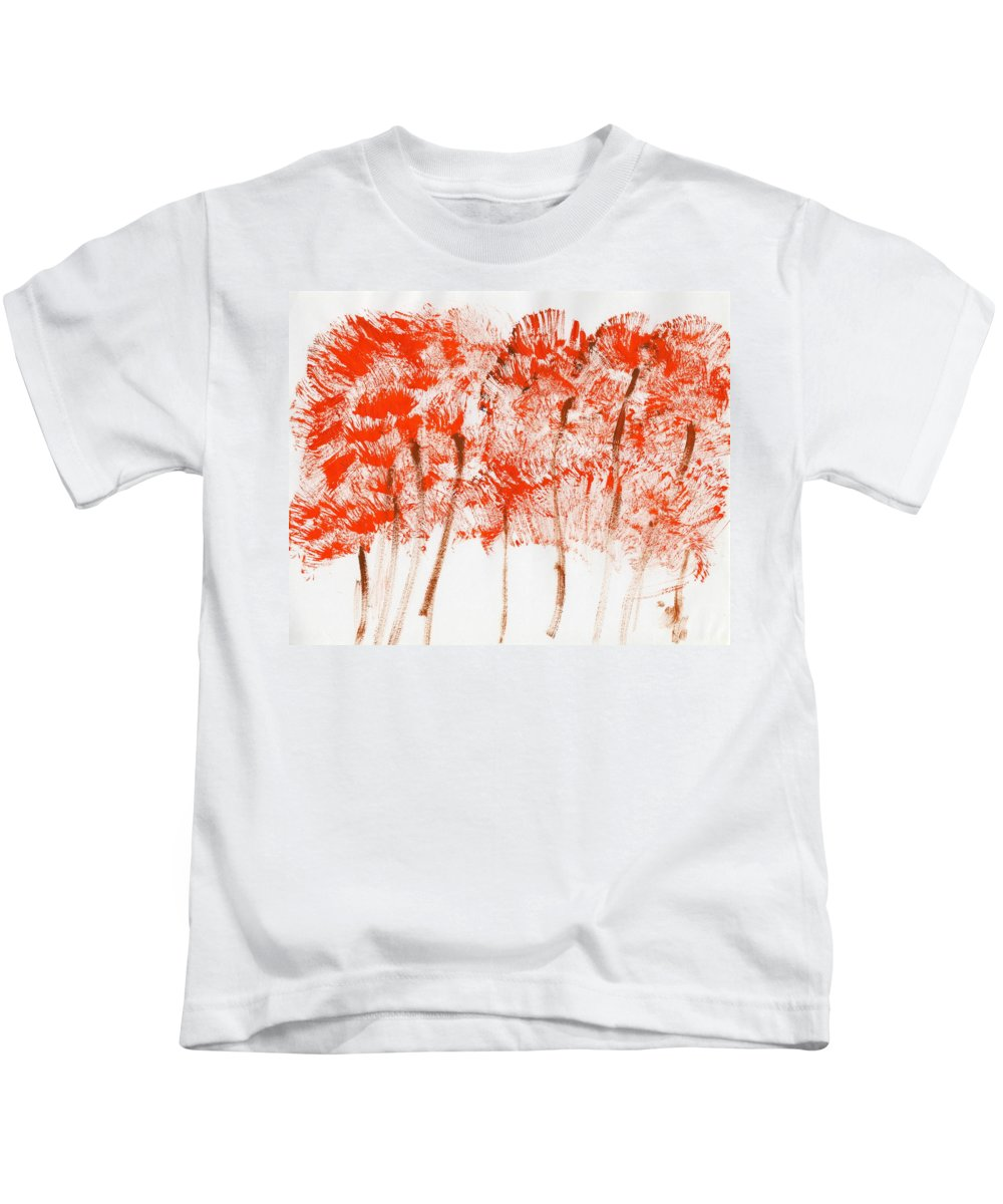 Emerging Fall Kids T-Shirt featuring the painting Emerging Fall by Taylor Webb