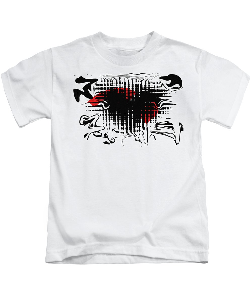 Abstract Kids T-Shirt featuring the digital art Emotion by David Dehner
