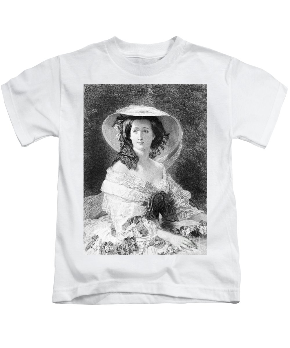 1872 Kids T-Shirt featuring the photograph Empress Eugenie Of France by Granger