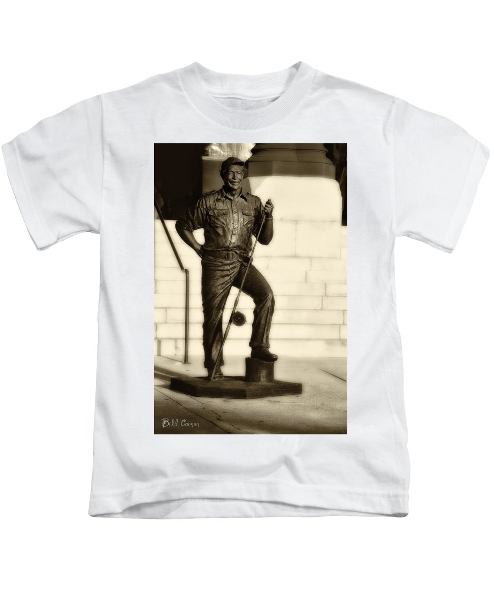 Ernest Hemingway The Old Man And The Sea Kids T-Shirt featuring the photograph Ernest Hemingway The Old Man And The Sea by Bill Cannon