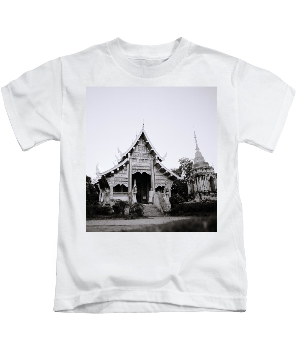 Buddhism Kids T-Shirt featuring the photograph Ethereal Buddhism by Shaun Higson