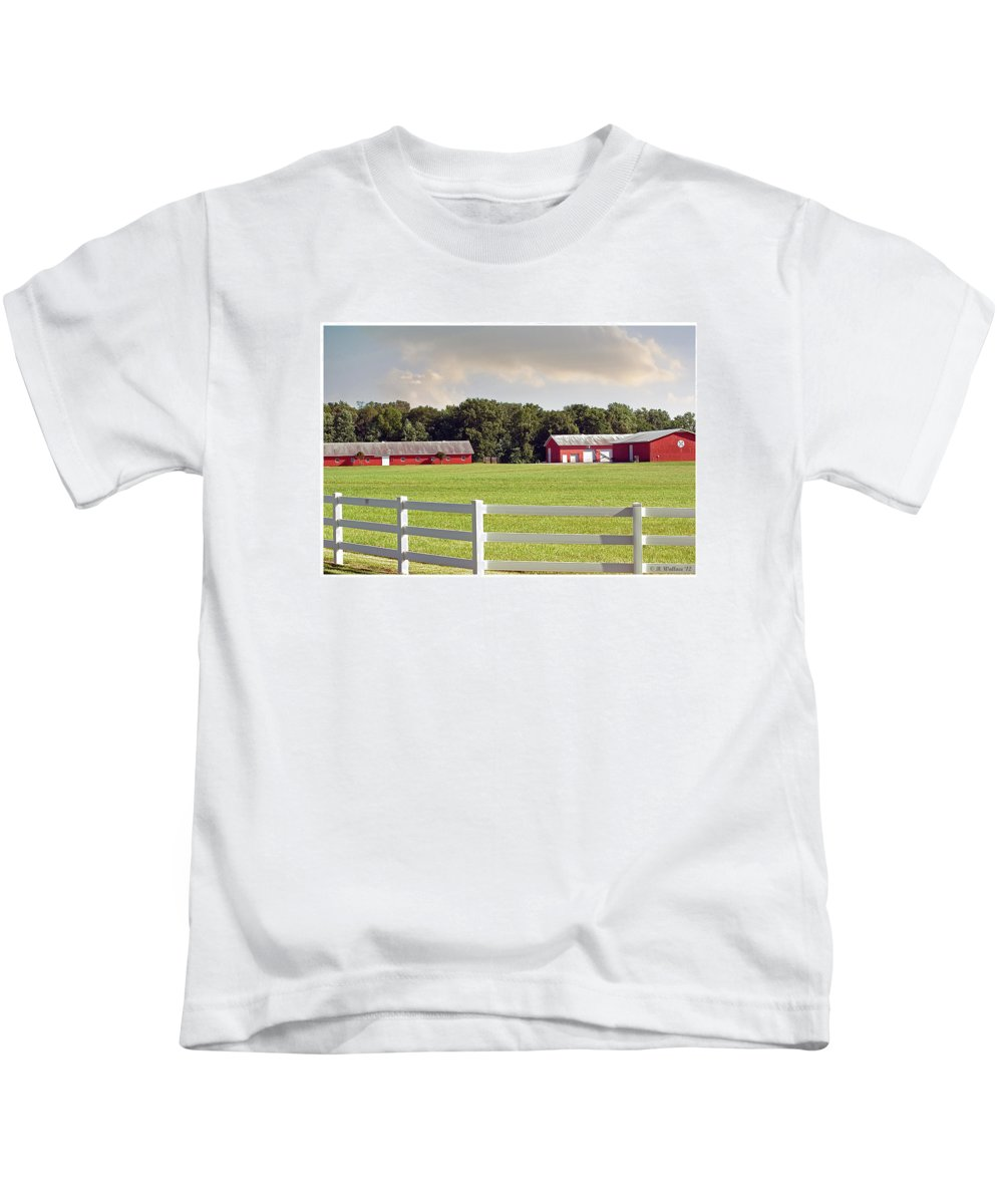 2d Kids T-Shirt featuring the photograph Farm Pasture by Brian Wallace