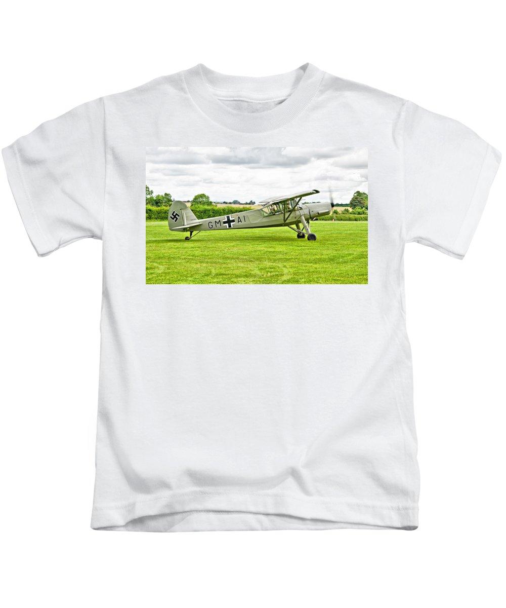 Fieseler Fi 156 Storch Kids T-Shirt featuring the photograph Fieseler Fi 156 Storch by Chris Thaxter