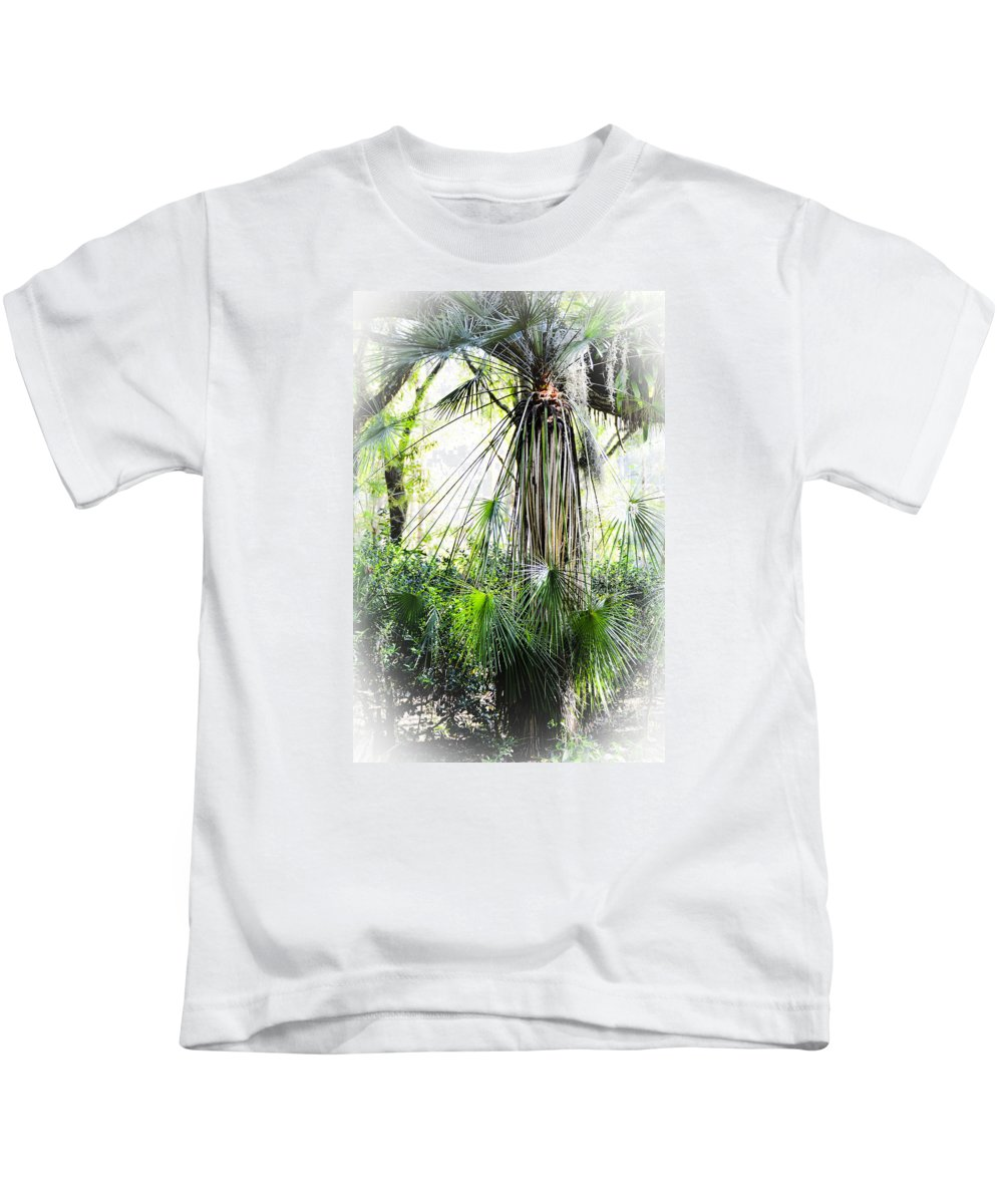 Palms Kids T-Shirt featuring the photograph Florida Palms by Carolyn Marshall