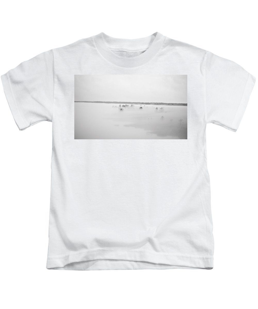 Fog Rolling In Print Kids T-Shirt featuring the photograph Fog Rolling In by Deborah M Rinaldi