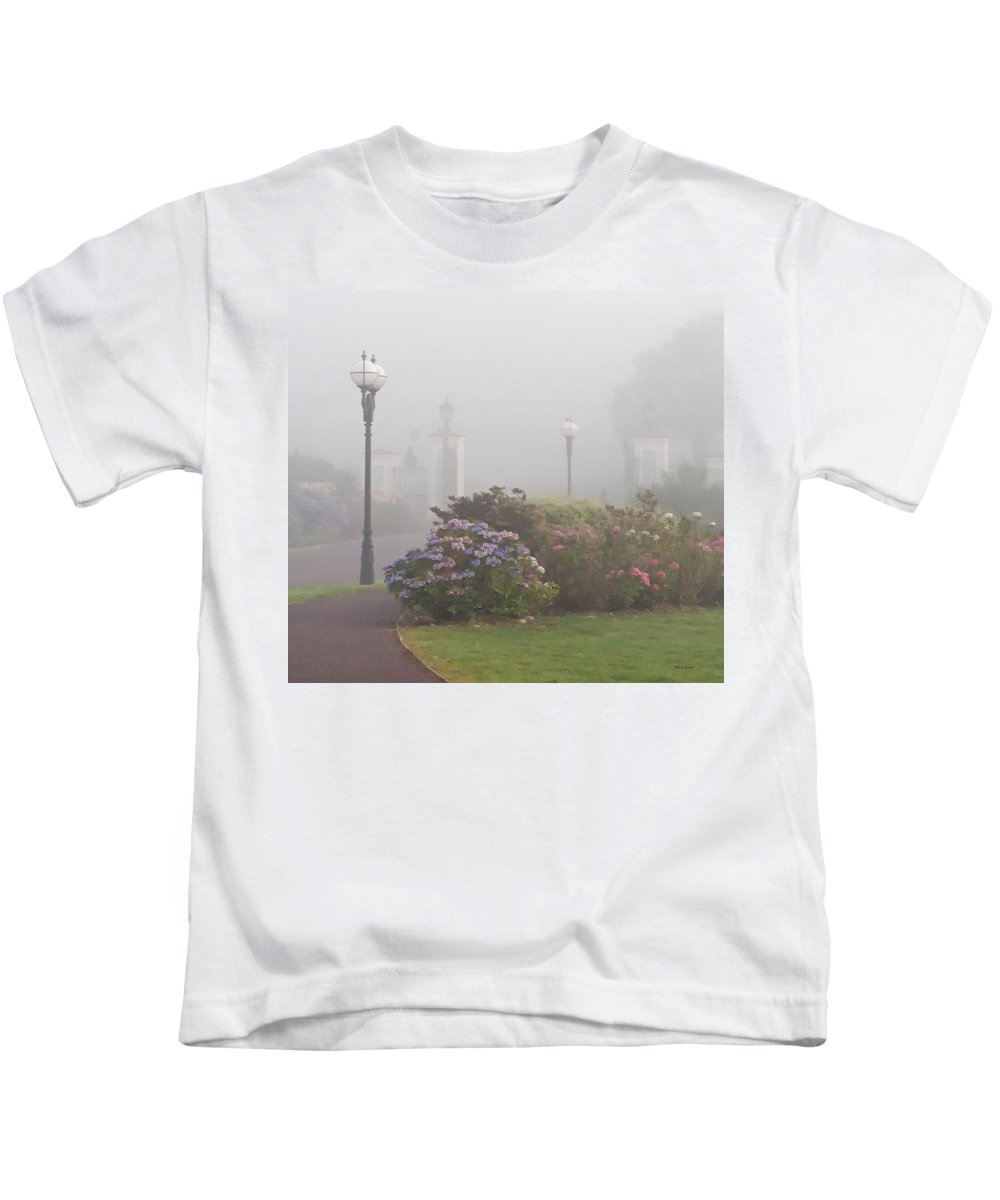 Fog Kids T-Shirt featuring the photograph Foggy Morn by Rebecca Samler
