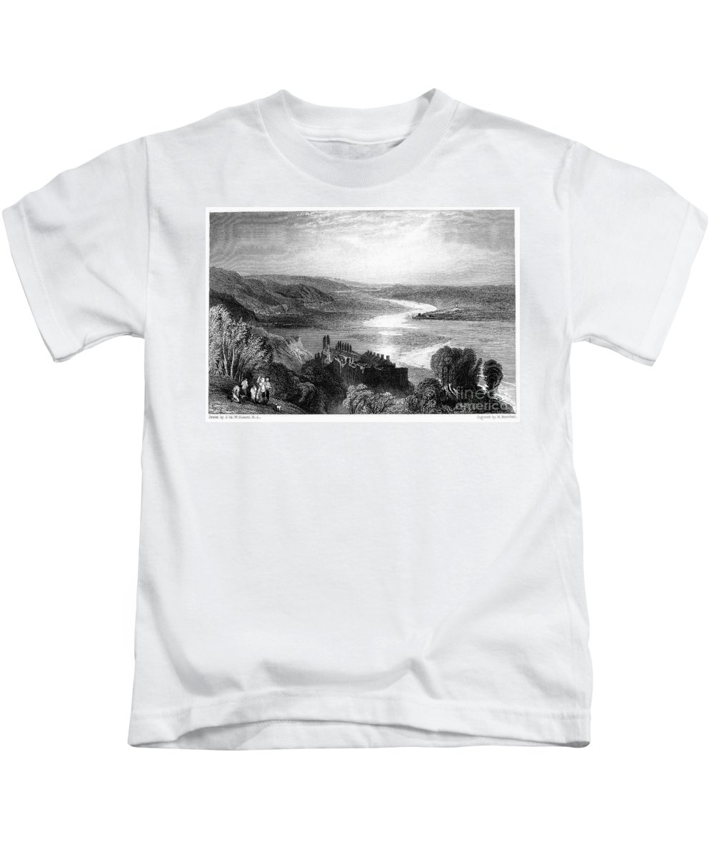 1853 Kids T-Shirt featuring the photograph France: Chateau, 1853 by Granger