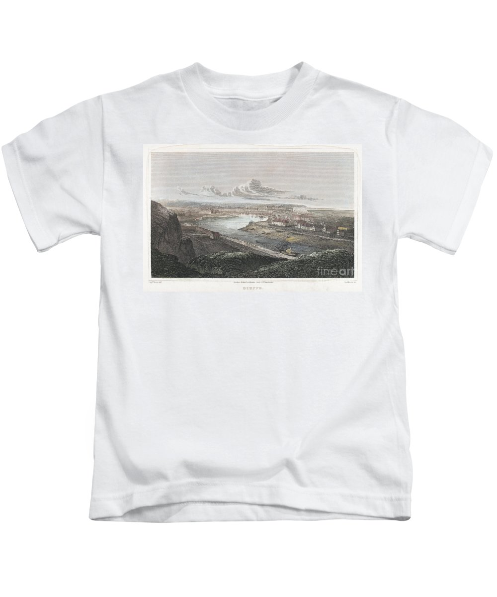 1822 Kids T-Shirt featuring the photograph France: Dieppe, 1822 by Granger