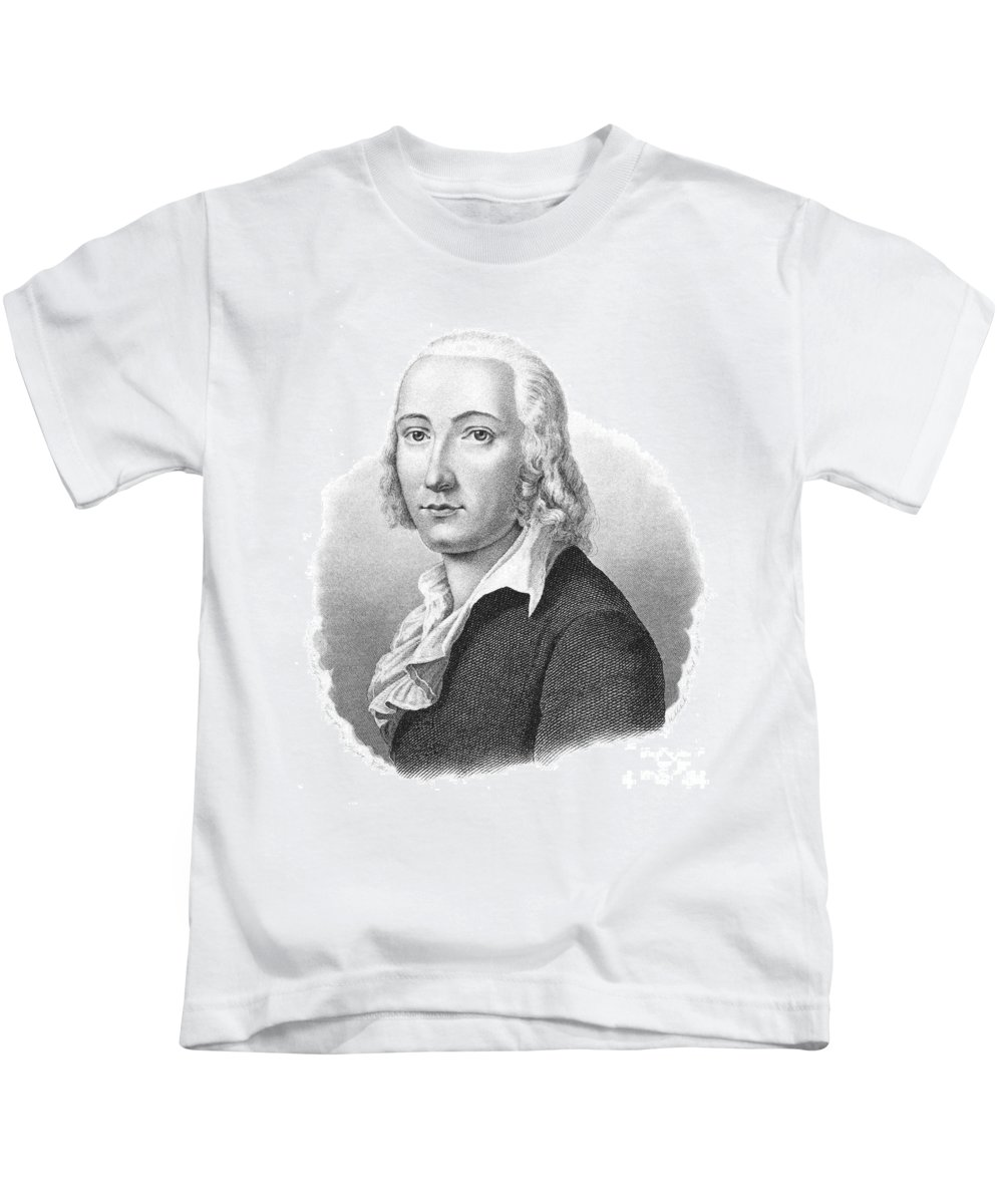 1792 Kids T-Shirt featuring the photograph Freidrich H�lderlin by Granger