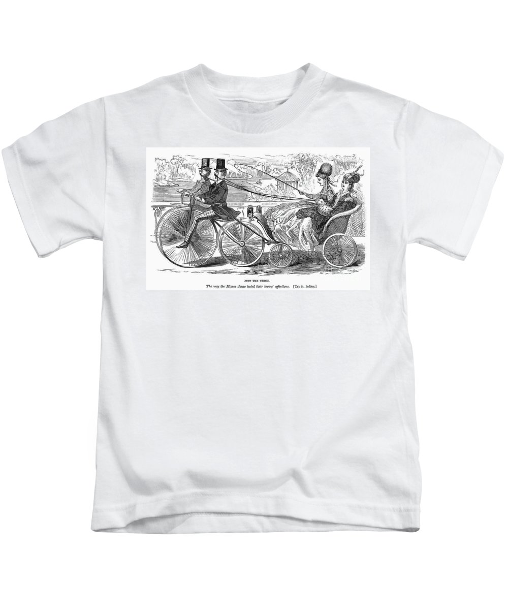American Kids T-Shirt featuring the photograph Gallant Admirers, 1869 by Granger