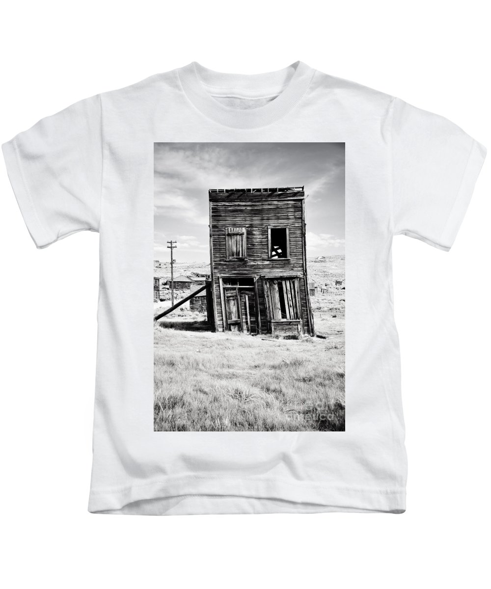 Black Kids T-Shirt featuring the photograph Ghost Town Remains by Katie Plies