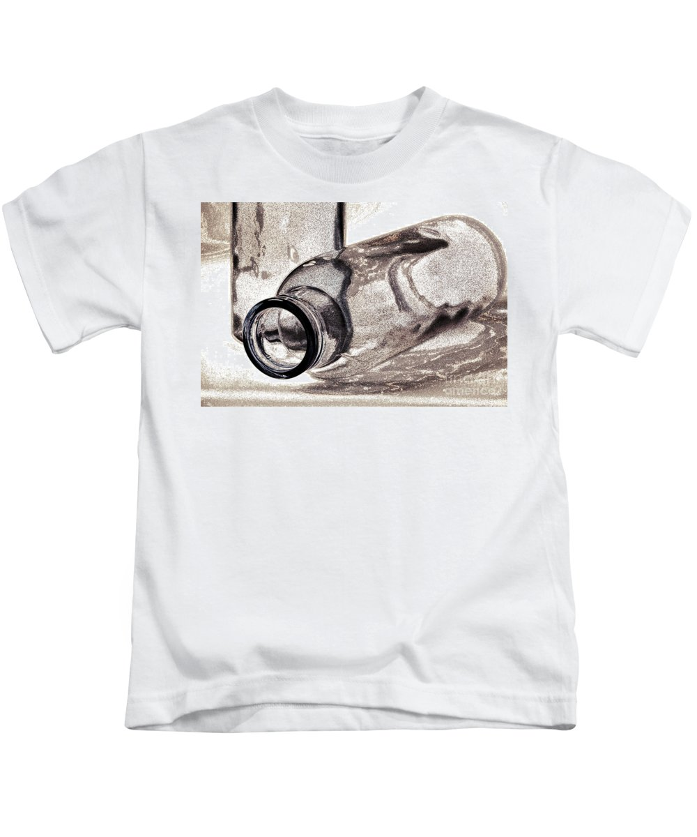 Bottles Kids T-Shirt featuring the photograph Glass Objects 2 by Heiko Koehrer-Wagner