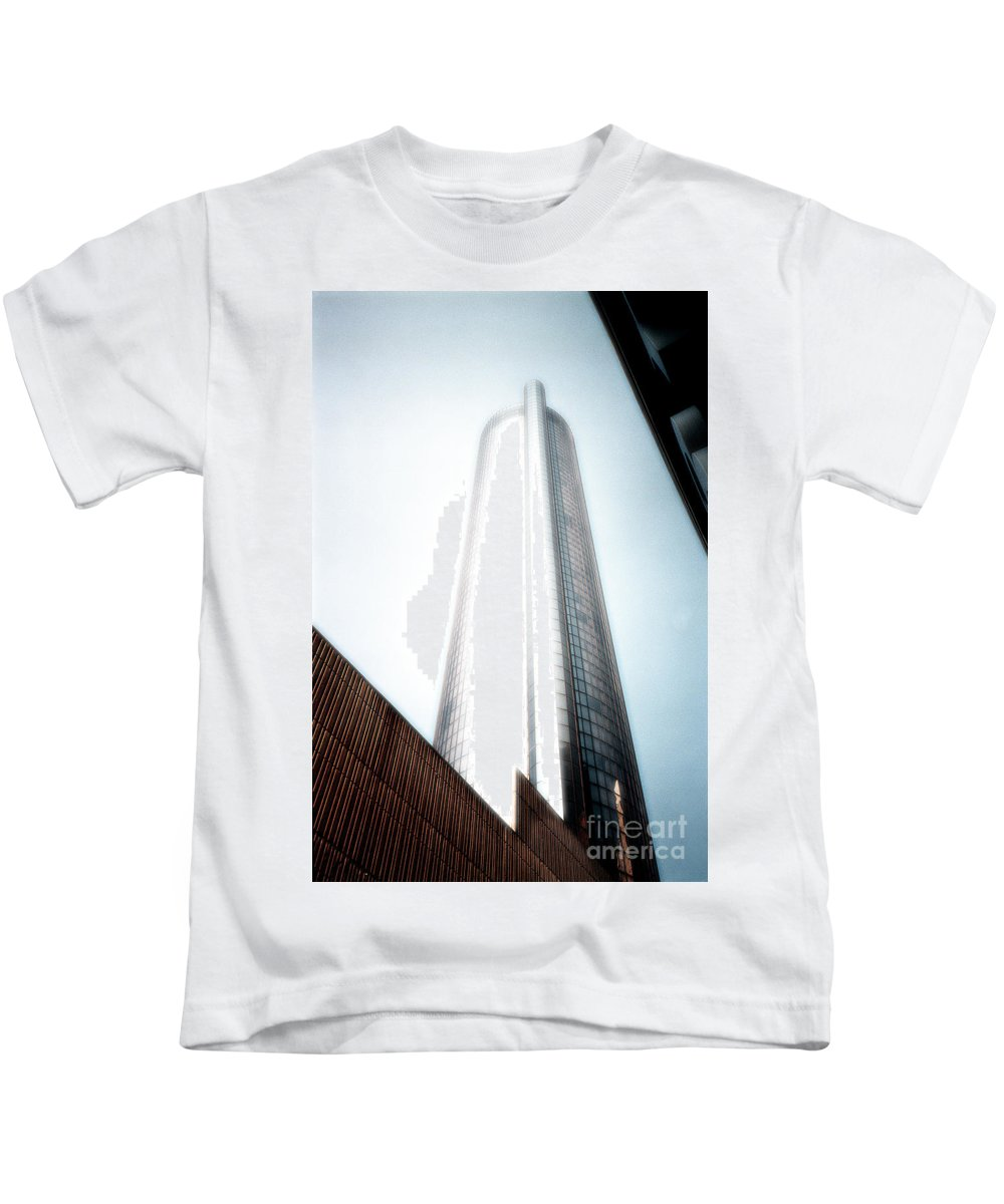 Skyscraper Kids T-Shirt featuring the photograph Glowing Skyscraper by Mike Nellums