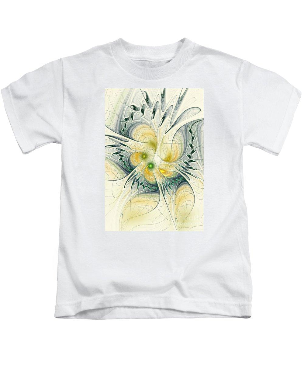 Fractal Kids T-Shirt featuring the digital art Goddess Isis by Deborah Benoit