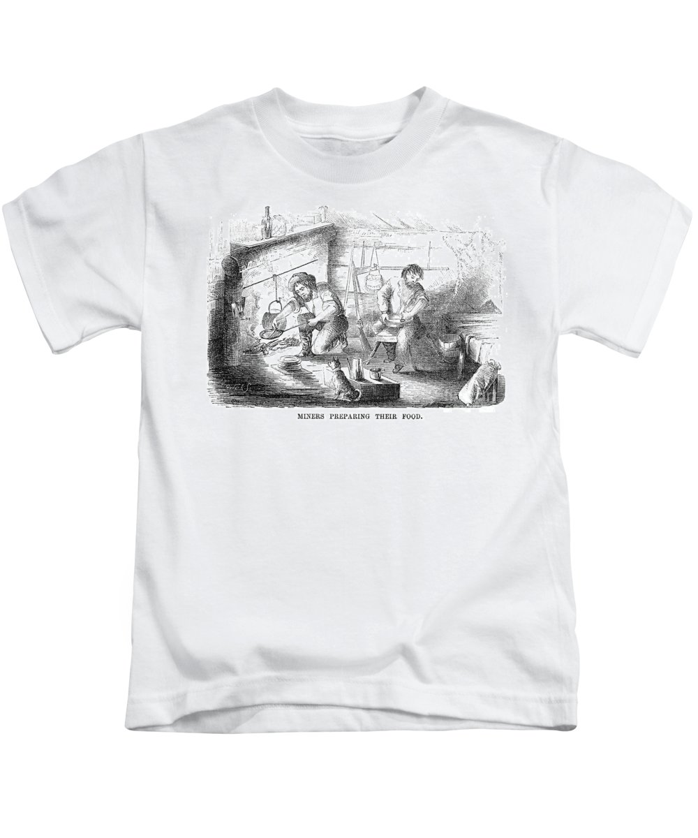 1853 Kids T-Shirt featuring the photograph Gold Mining Camp, 1853 by Granger