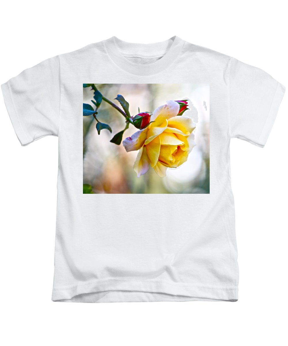 Yellow Rose Red Roses Single Kids T-Shirt featuring the photograph Gorgeous Roses by Alice Gipson