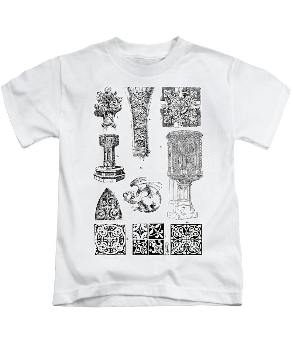 Architecture Kids T-Shirt featuring the photograph Gothic Ornament by Granger