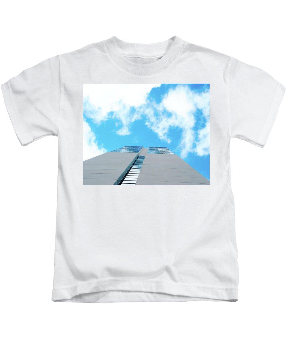 Sky Kids T-Shirt featuring the digital art Grand Hyatt San Antonio by Lizi Beard-Ward
