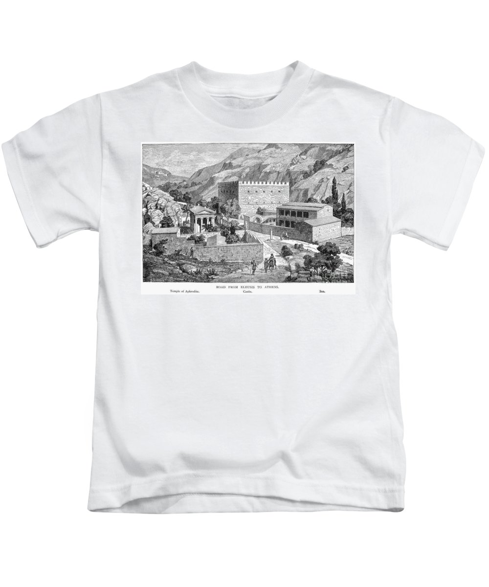 Ancient Kids T-Shirt featuring the photograph Greece: Road To Athens by Granger