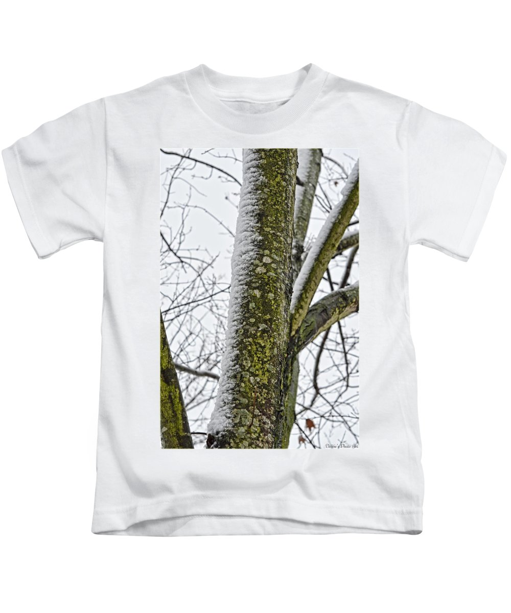 Nature Kids T-Shirt featuring the photograph Half Frozen I by Debbie Portwood