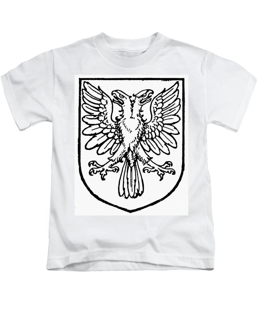 Coat Of Arms Kids T-Shirt featuring the photograph Heraldry: Birds by Granger