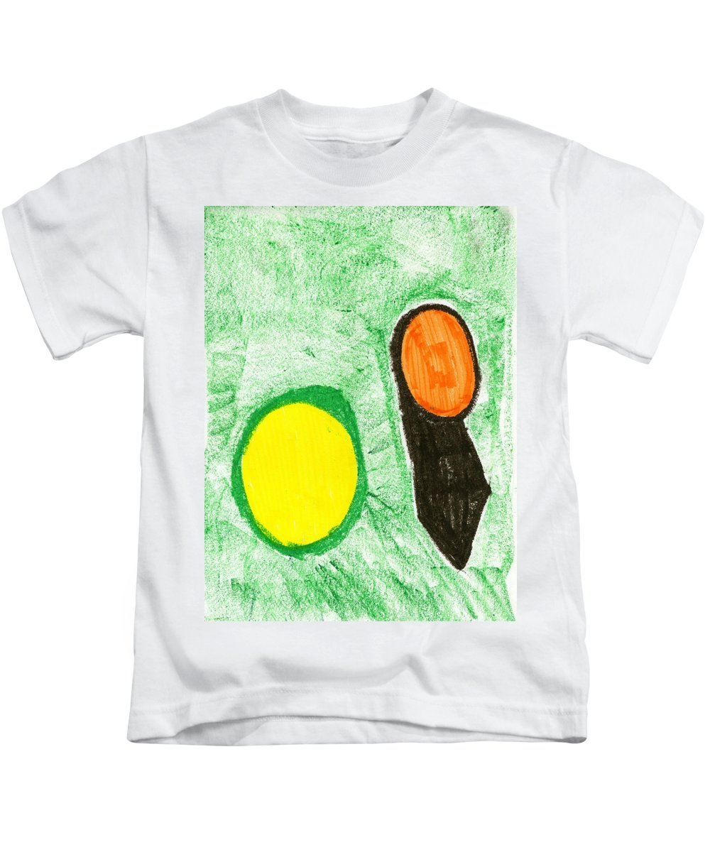 Hidden Earth Kids T-Shirt featuring the painting Hidden Earth by Taylor Webb
