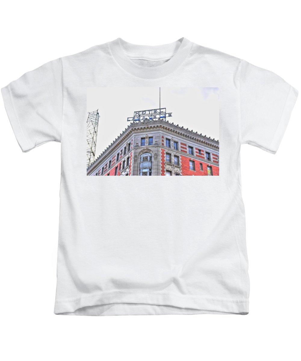 Kids T-Shirt featuring the photograph Hotel Lafayette by Michael Frank Jr
