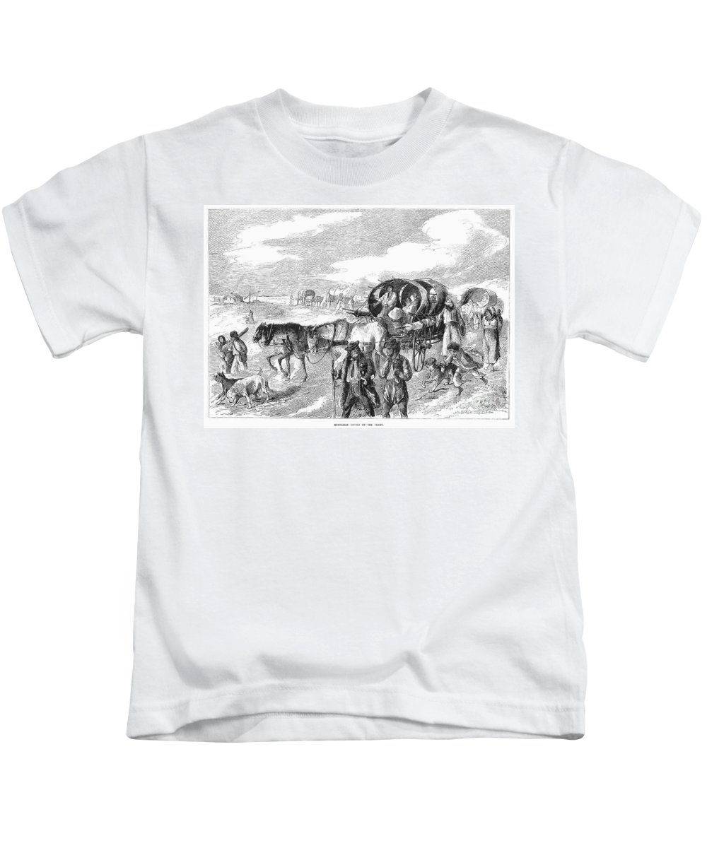 1874 Kids T-Shirt featuring the photograph Hungarian Gypsies, 1874 by Granger