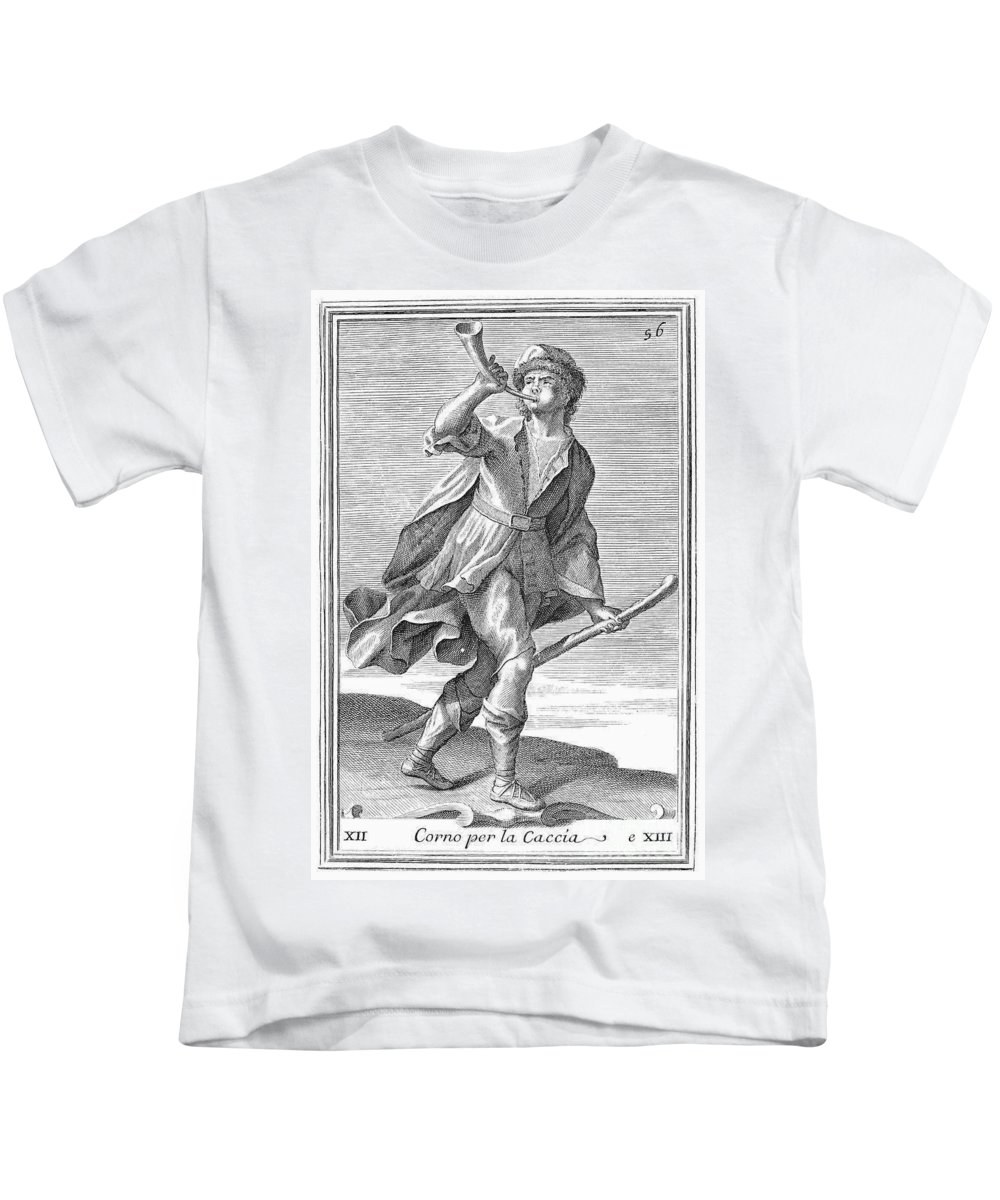 1723 Kids T-Shirt featuring the photograph Hunting Horn, 1723 by Granger