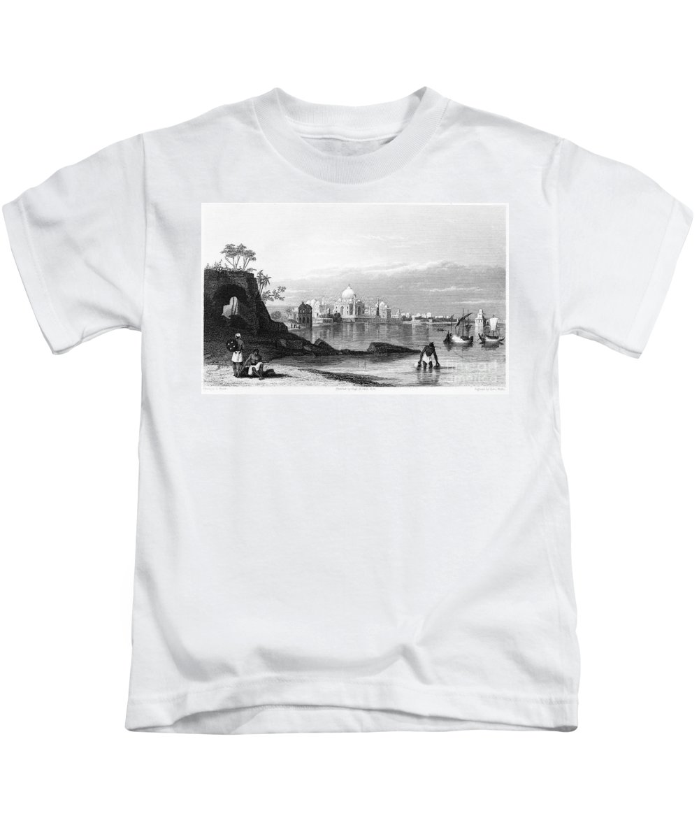 1860 Kids T-Shirt featuring the photograph India: Taj Mahal, C1860 by Granger
