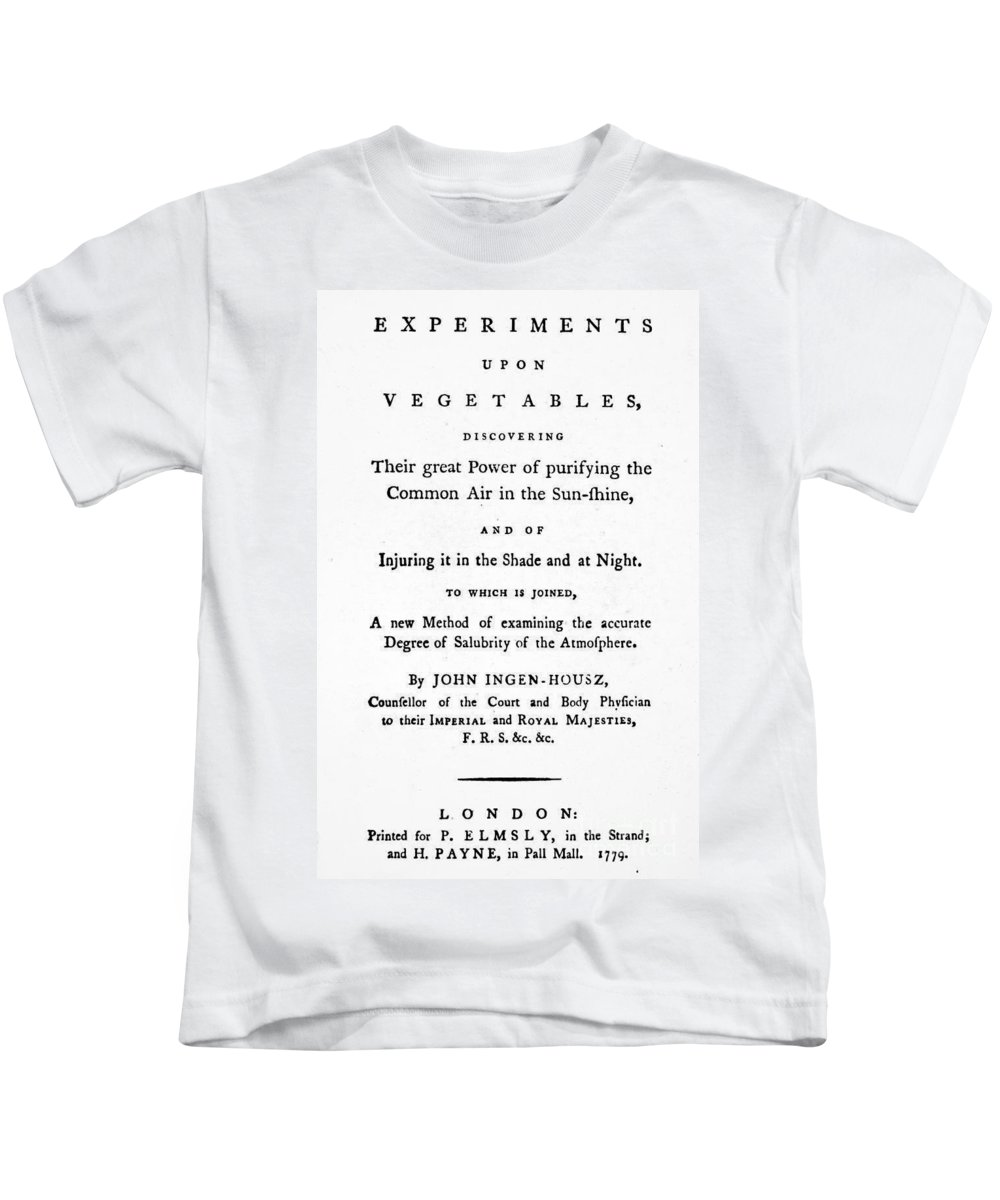 1779 Kids T-Shirt featuring the photograph Ingenhousz Title-page, 1779 by Granger
