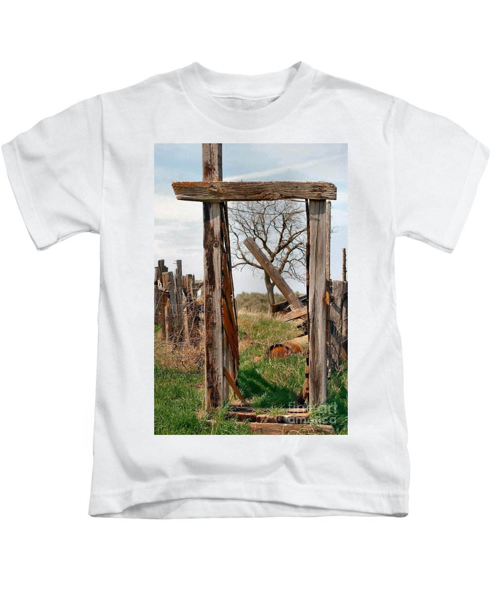 Landscape Kids T-Shirt featuring the photograph Into The Past by Anjanette Douglas