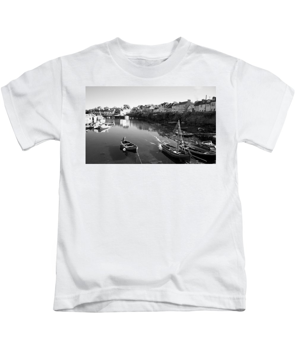 City Kids T-Shirt featuring the photograph Ireland West Coast Town by David Resnikoff