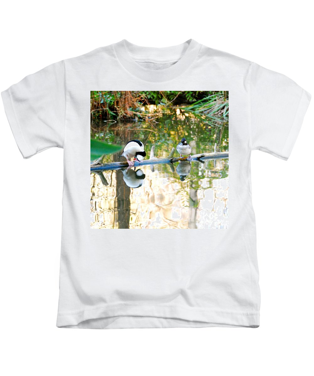 Landscape Photo Kids T-Shirt featuring the photograph Is That Me by Peggy Franz