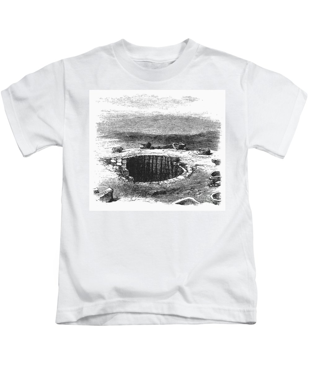 19th Century Kids T-Shirt featuring the photograph Israel: Well And Troughs by Granger