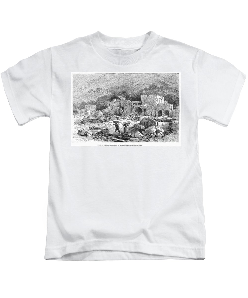 1881 Kids T-Shirt featuring the photograph Italy: Earthquake, 1881 by Granger