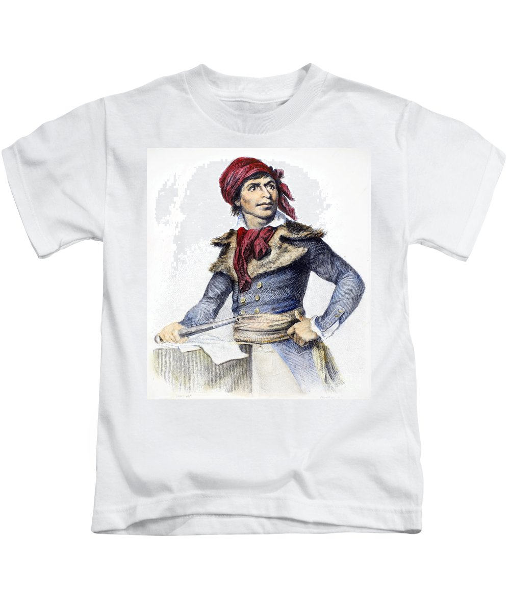 18th Century Kids T-Shirt featuring the photograph Jean-paul Marat (1743-1793) by Granger