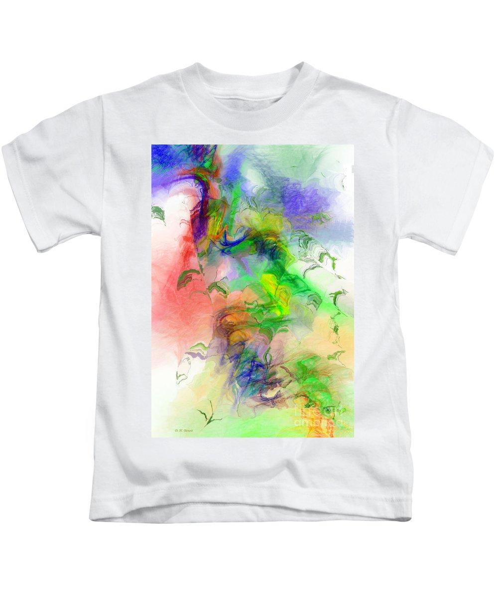 Abstract Kids T-Shirt featuring the digital art Joy Of Life by Deborah Benoit