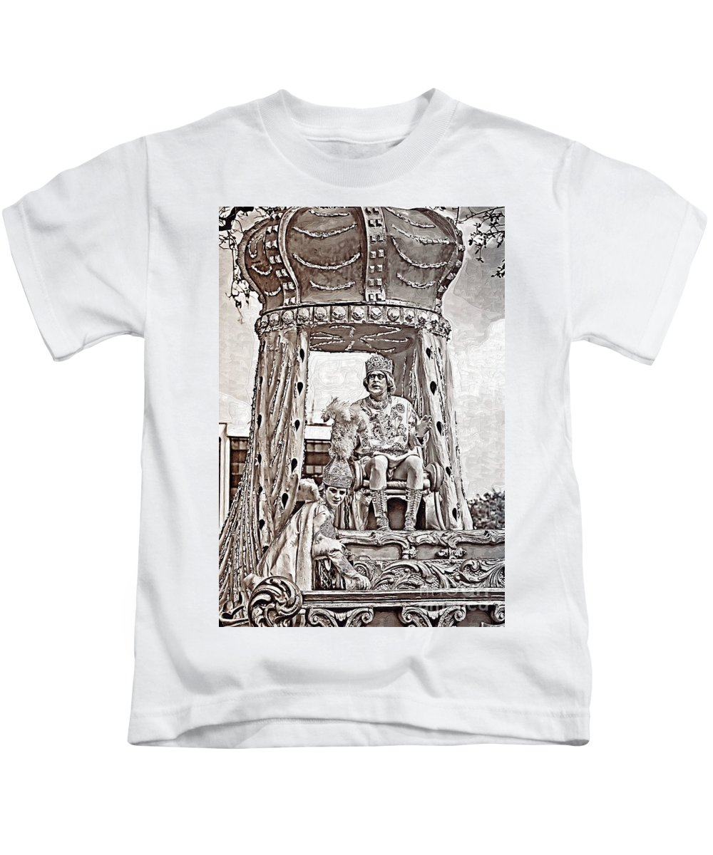 Painted Kids T-Shirt featuring the photograph King Of Rex - Painted Bw by Kathleen K Parker