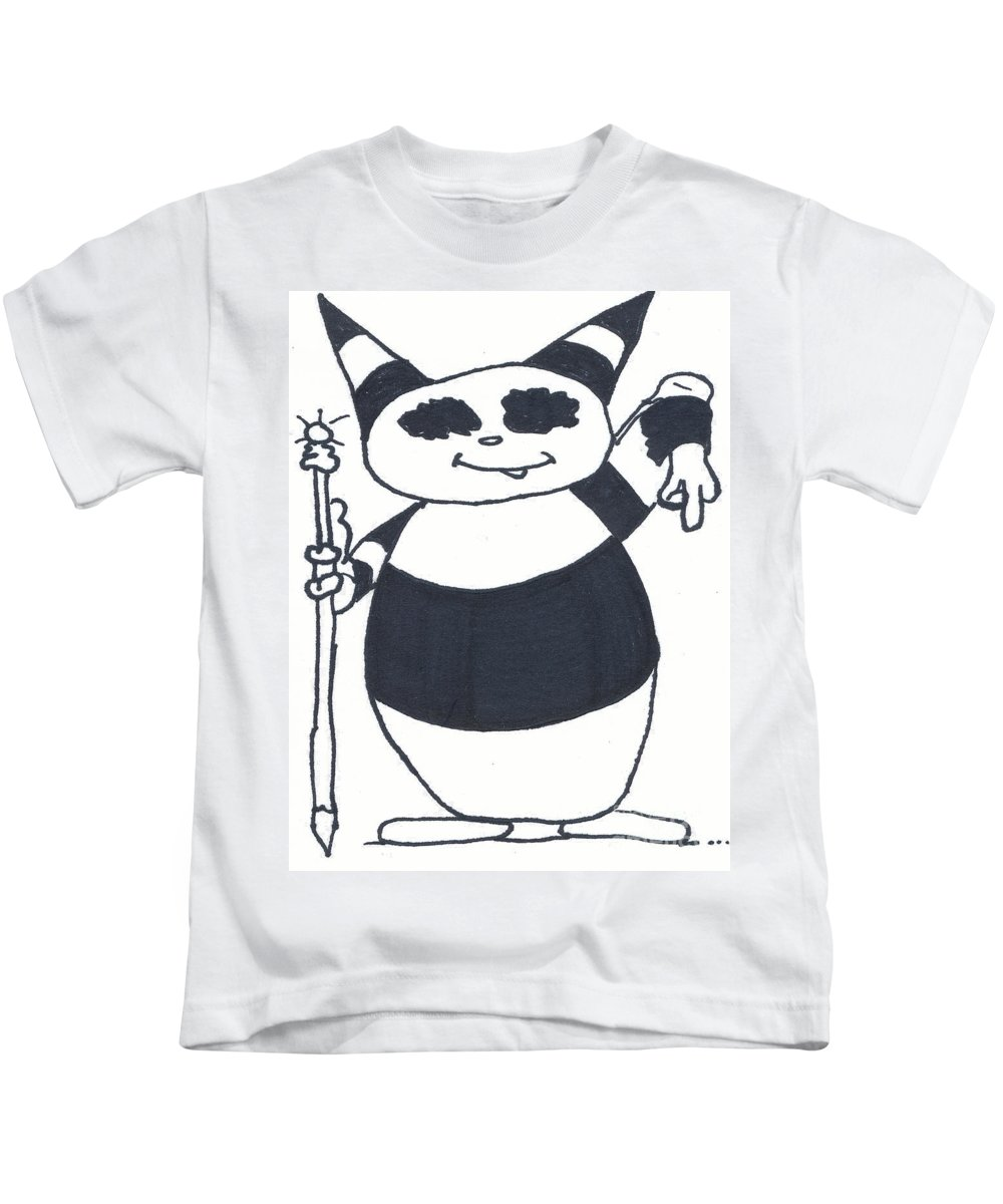 Ralphy Kids T-Shirt featuring the drawing King Ralphy by Michael Mooney
