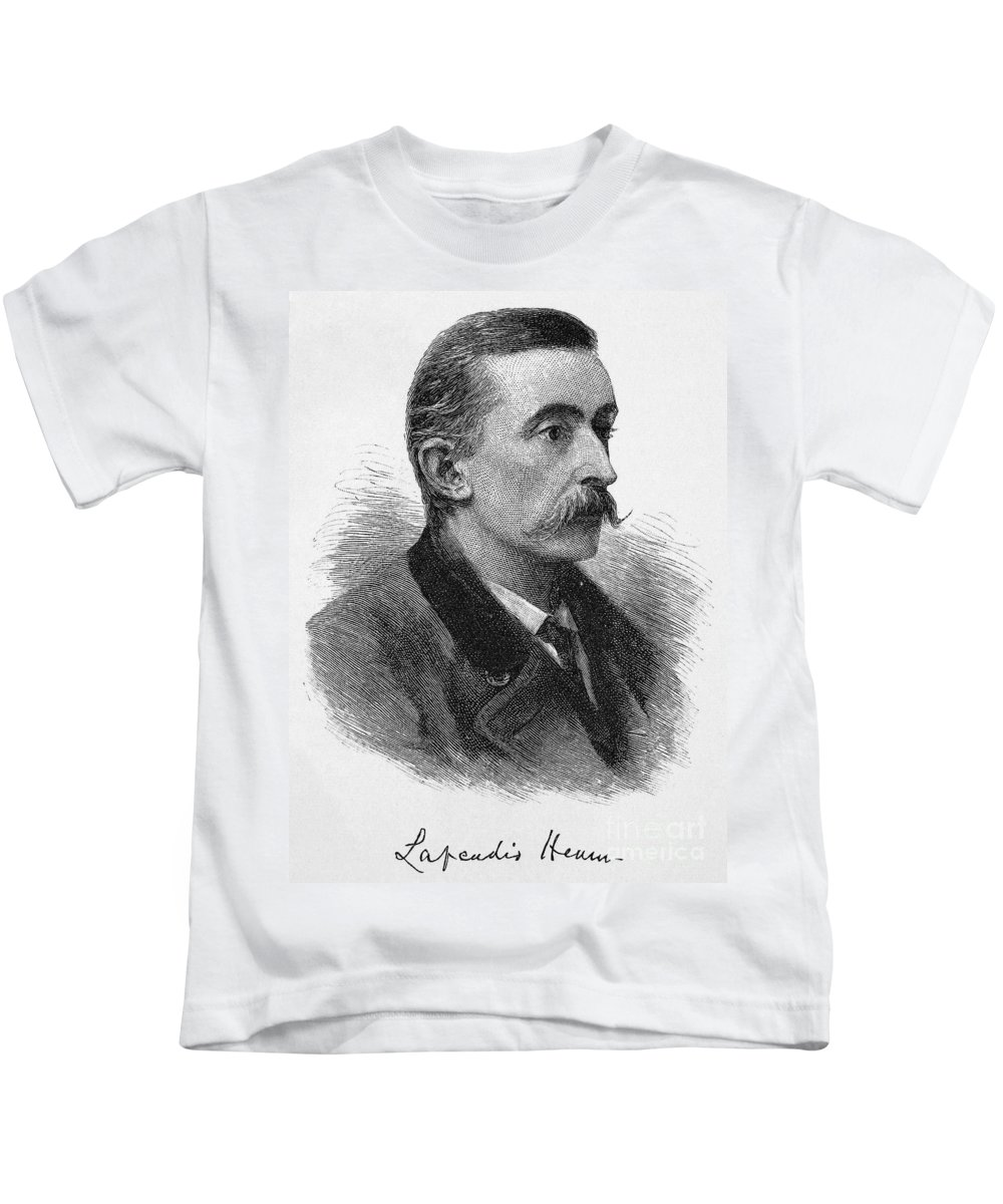 1887 Kids T-Shirt featuring the photograph Lafcadio Hearn (1850-1904) by Granger