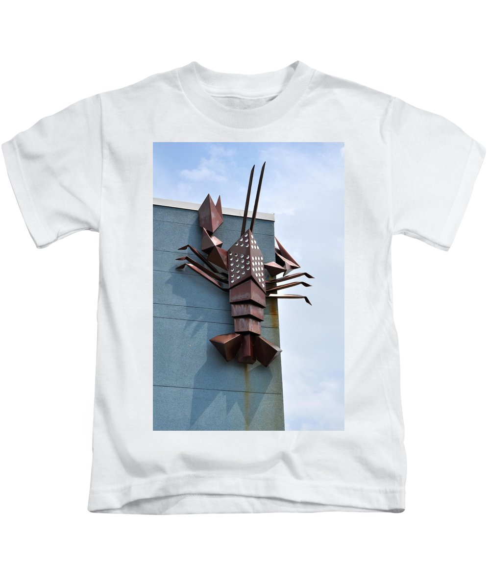Asbury Park Kids T-Shirt featuring the photograph Langusta Lobster by Catherine Conroy