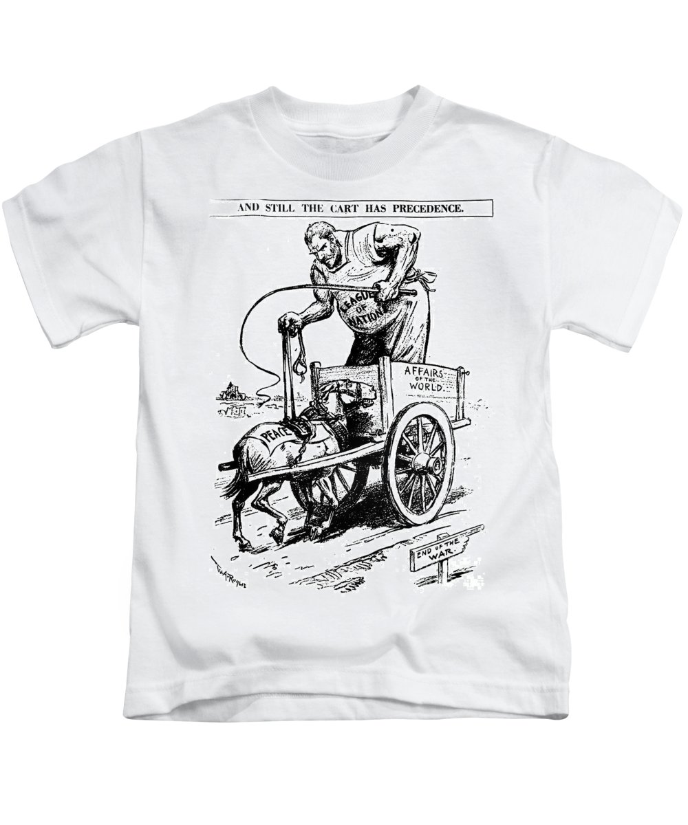 1919 Kids T-Shirt featuring the photograph League Of Nations, 1919 by Granger