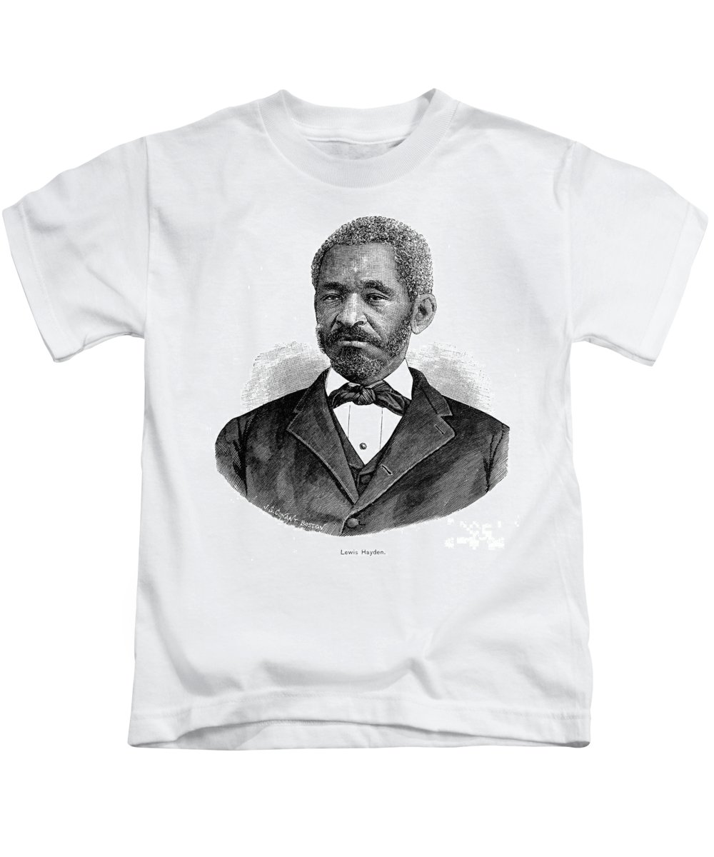 1890 Kids T-Shirt featuring the photograph Lewis Hayden (1811-1889) by Granger