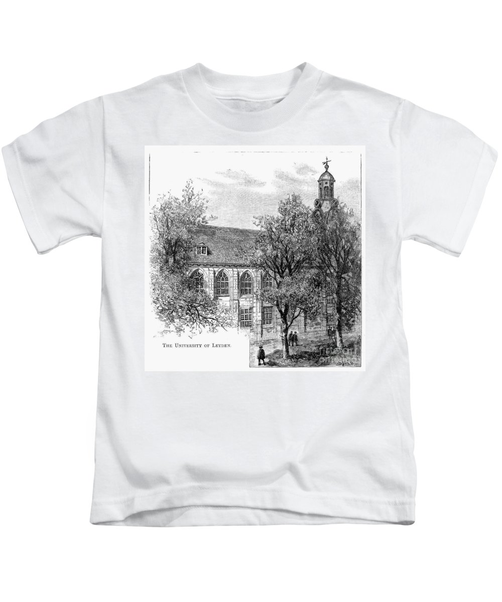 19th Century Kids T-Shirt featuring the photograph Leyden: University by Granger