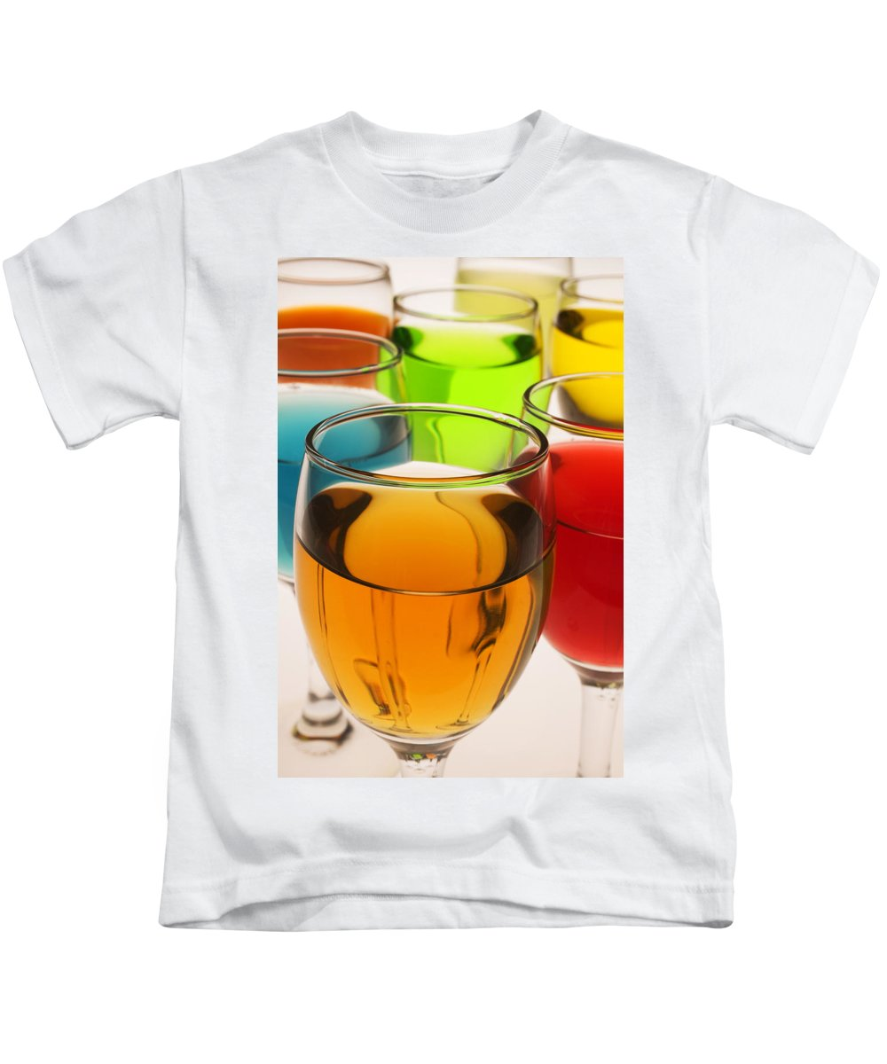 Liquor Kids T-Shirt featuring the photograph Liquor Glasses by Garry Gay