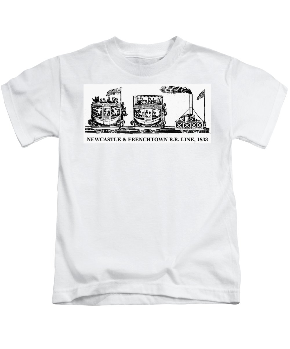1833 Kids T-Shirt featuring the photograph Locomotive, 1833 by Granger