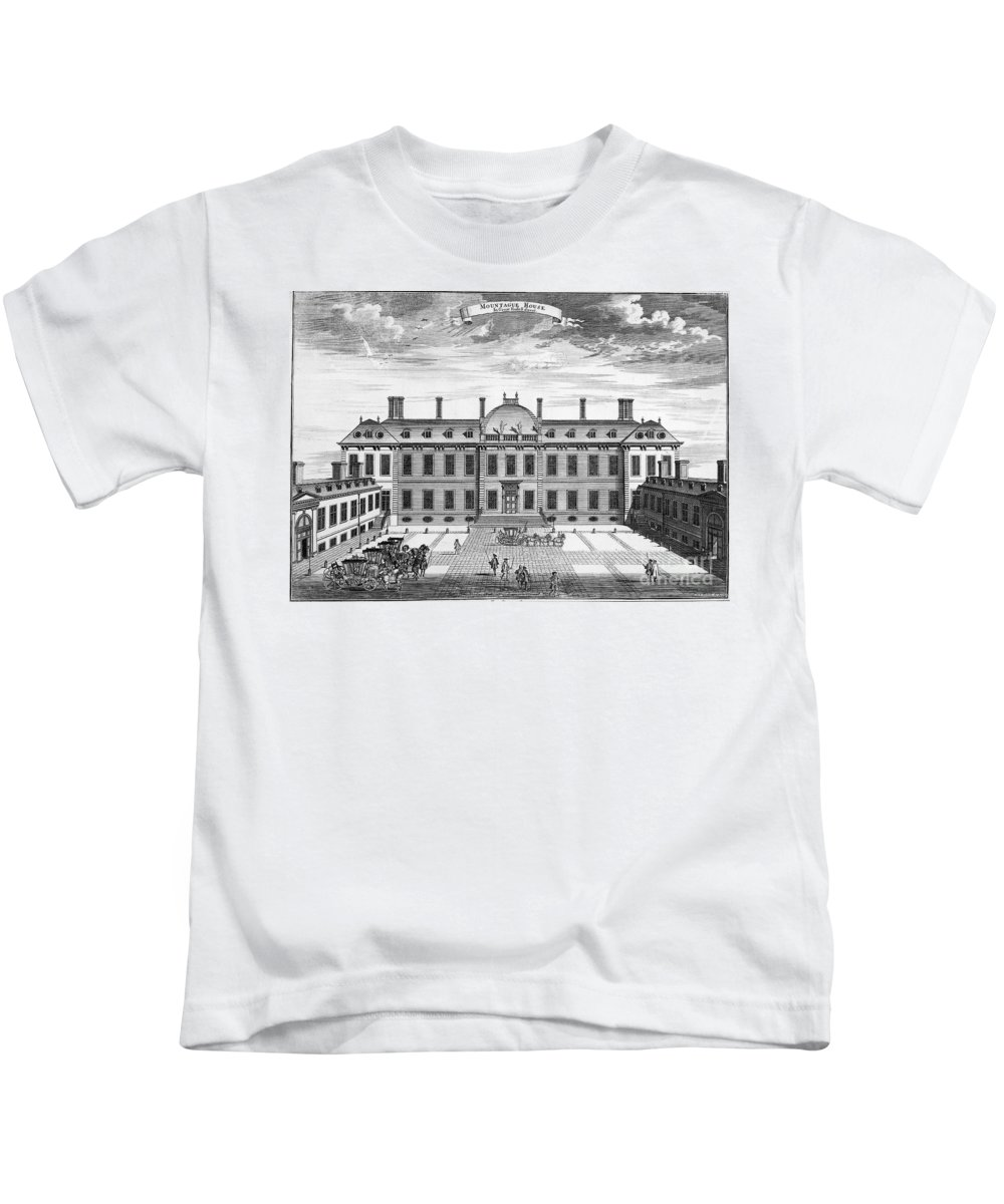 1714 Kids T-Shirt featuring the photograph London: Montagu House by Granger