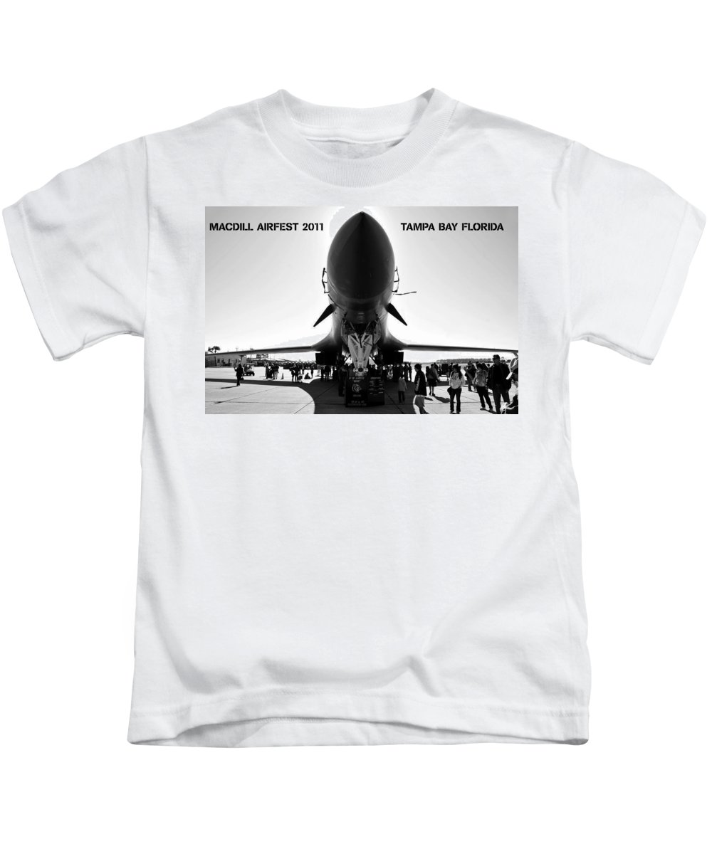 Fine Art Photography Kids T-Shirt featuring the photograph Macdill Airfest by David Lee Thompson